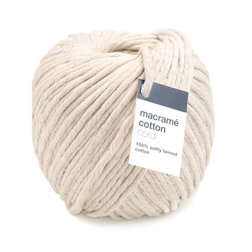 Macrame Cotton Cord, Ecru