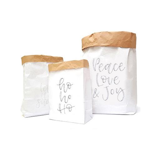 (3) Paperbags Xmas