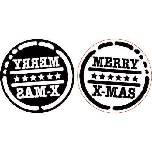 Pronty Foam stamps Merry X-mas 494.001.014 90mm (09-19)