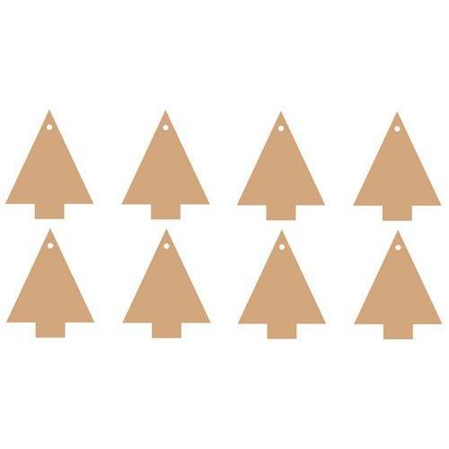 Pronty MDF 3 mm Christmas Trees 8x 460.427.240 68x84mm (09-19)
