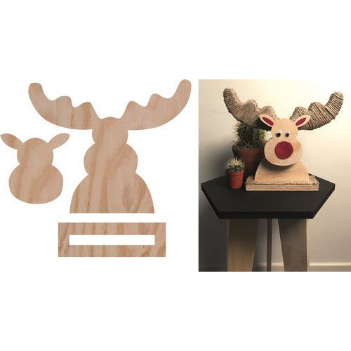 Pronty Deco Wood Deer 422.000.014 302x248x65 (09-19)