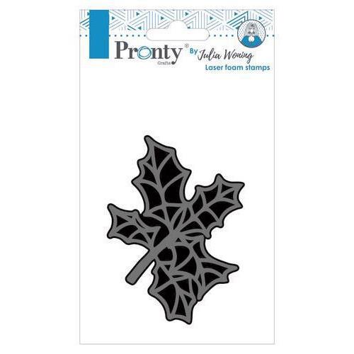 Pronty Foam stamp Holly twig 494.904.015 Julia Woning (09-19)