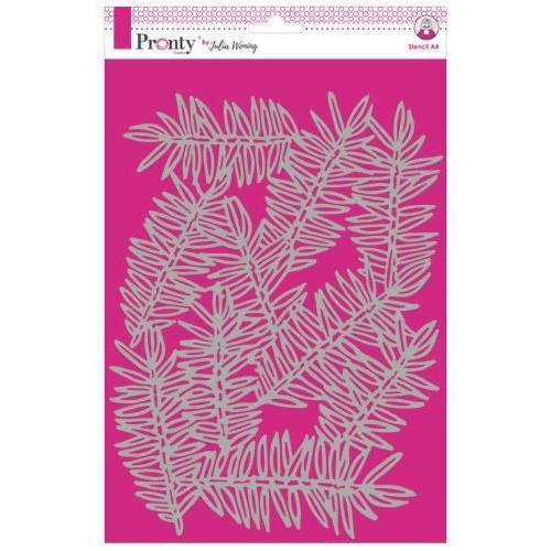 Pronty Stencil Pine Branches 470.765.021 A4 Julia Woning (09-19)