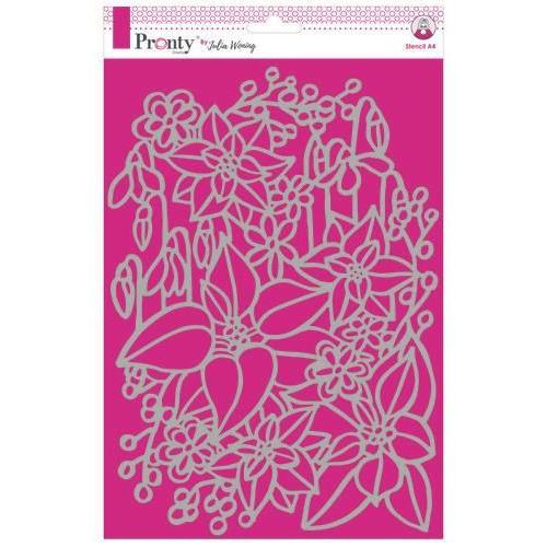 Pronty Stencil Inter Flowers 470.765.022 A4 Julia Woning (09-19)