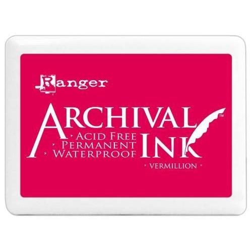 Ranger Archival Jumbo Ink pad - vermillion A3P30522