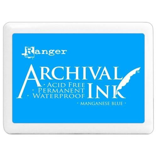 Ranger Archival Jumbo Ink pad - manganese blue A3P30539