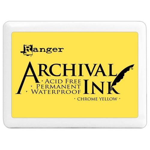 Ranger Archival Jumbo Ink pad - chrome yellow A3P31390