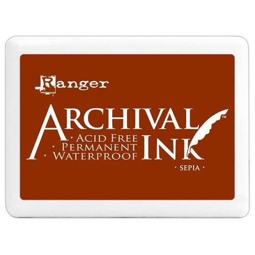 Ranger Archival Jumbo Ink pad - sepia A3P06725