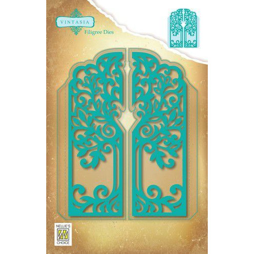 Nellies Choice Vintasia Die Filigree Die boom VIND063 121x148mm (10-19)