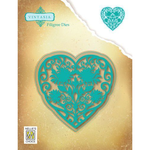 Nellies Choice Vintasia Die Filigree Die hart VIND066 91x90mm (10-19)