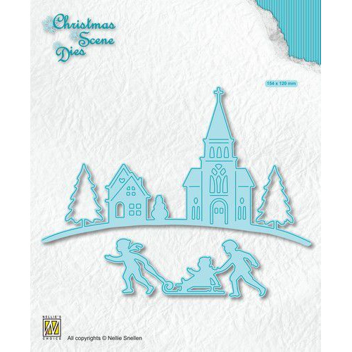 Nellies Choice Christmas Scene Die Wintertime CRSD004 (10-19)