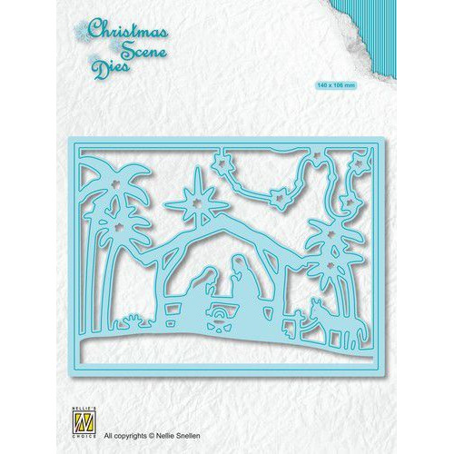 Nellies Choice Christmas Scene Die Een kind is geboren CRSD006 (10-19)