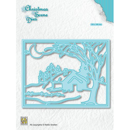 Nellies Choice Christmas Scene Die Winter bij maanlicht CRSD007 (10-19)