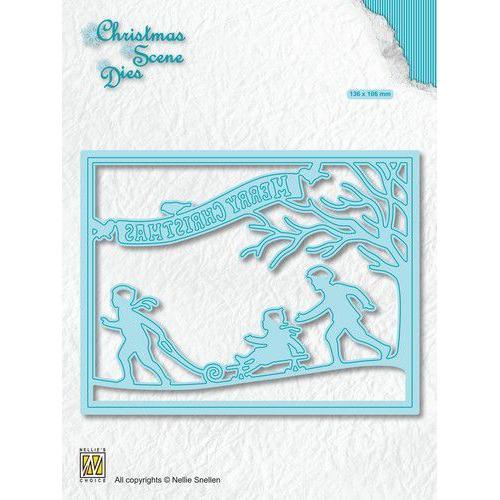 Nellies Choice Christmas Scene Die Sneeuwplezier CRSD008 (10-19)