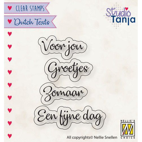 Nellies Choice Clearstempel Tekst (NL) - Voor jou etc.. DTCS026 24x9,2 - 39x9,9mm (10-19)