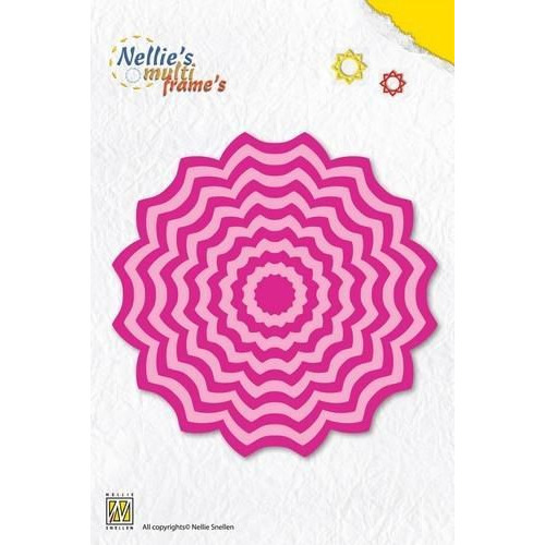 Nellies Choice Multi Frame Die - bloem 2 MFD063