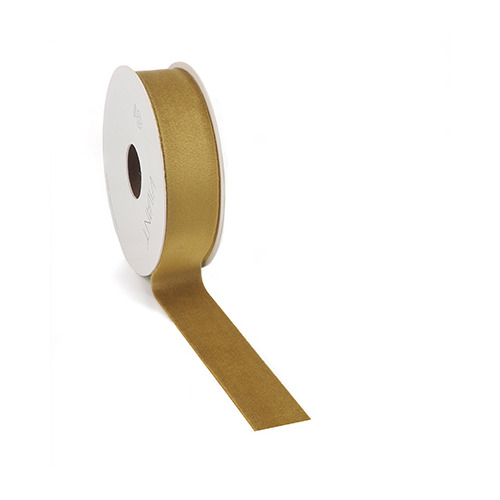 Velvet Deluxe Ribbon, Green Gold