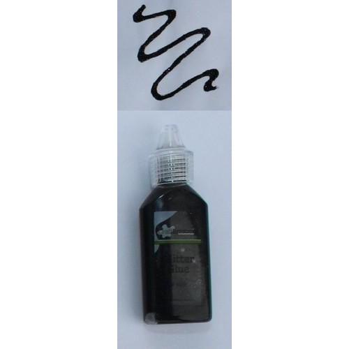 CraftEmotions Glitterlijm zwart 20 ml
