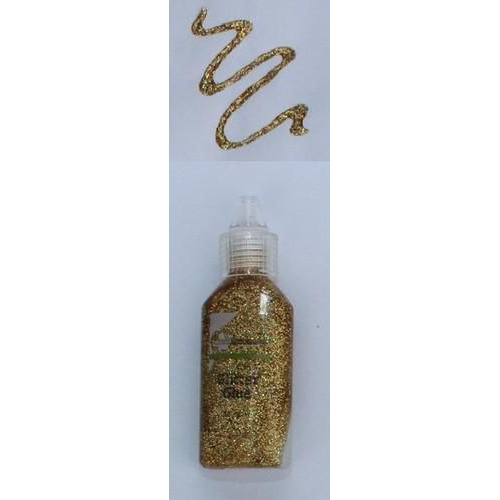 CraftEmotions Glitterlijm rainbow goud 20 ml