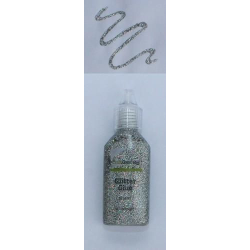 CraftEmotions Glitterlijm rainbow zilver 20 ml