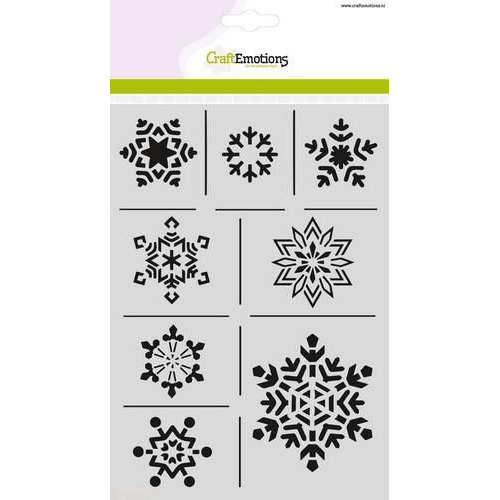 CraftEmotions Mask stencil - ijskristallen A5 Christmas Nature