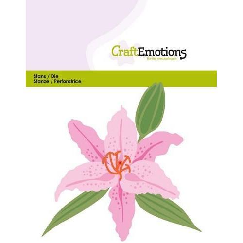 CraftEmotions Die - Lelie 3D Card 11x9cm