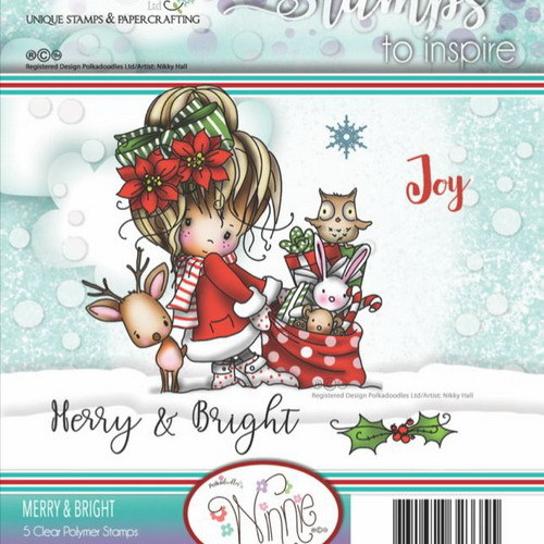 Polkadoodles stamp Winnie - Merry & Bright