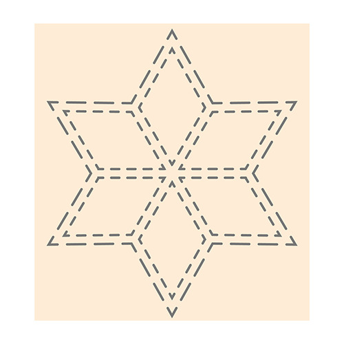 Polybesa stencil  - Ster