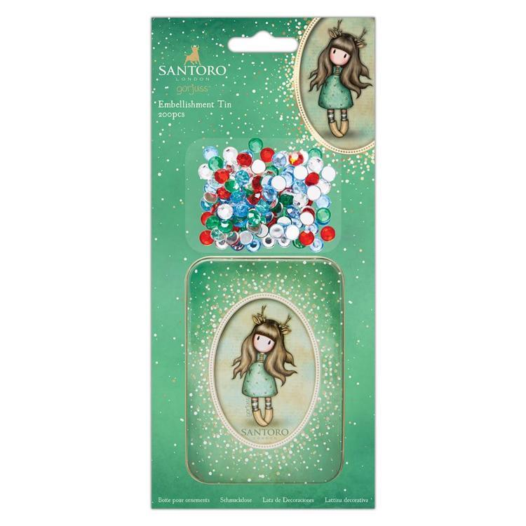 Embellishment Tin (200pcs) - Santoro - Doe-Eyed