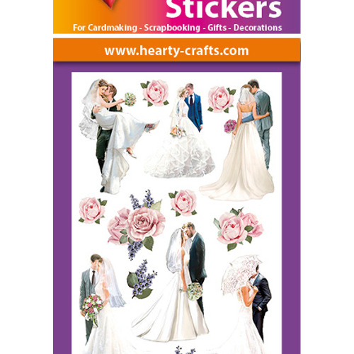 3D Relief Stickers A4 - Wedding