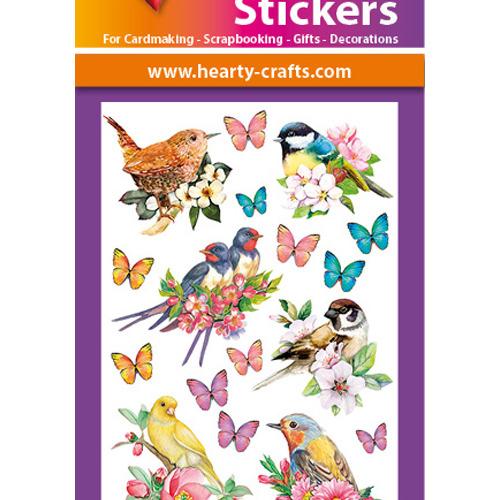 3D Relief Stickers A4 - Birds