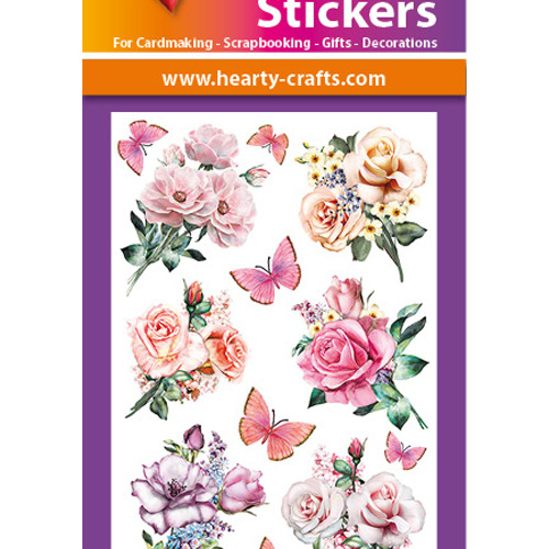 3D Relief Stickers A4 - Roses