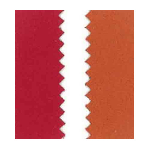 Vegan leer, dubb.z. fluweel, red/orange