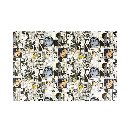 Kunstleer luxe, white/black