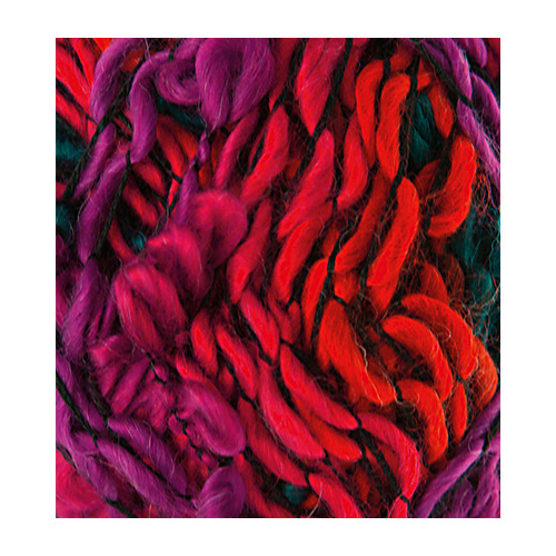 Fleurs Wool, Purple/blue night/orange
