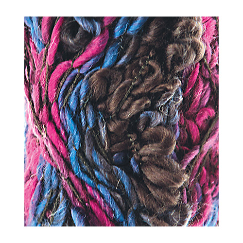 Fleurs Wool, Purple/medium blue/dark grey