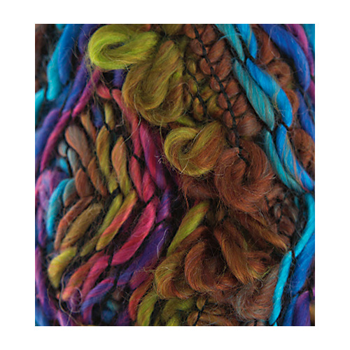 Fleurs Wool, Turquoise/purple/light green