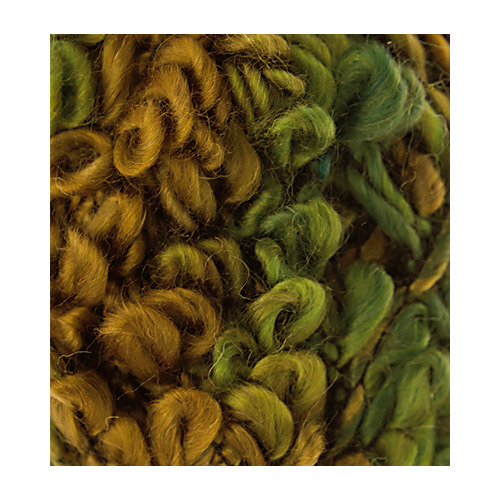 Fleurs Wool, Brown/kiwi/dark green