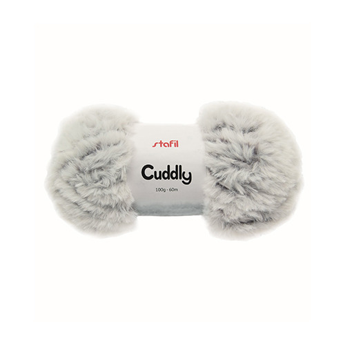 Cuddly Yarn, Mottled White/Black
