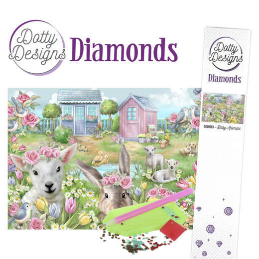 Dotty Designs Diamonds - Baby Animals