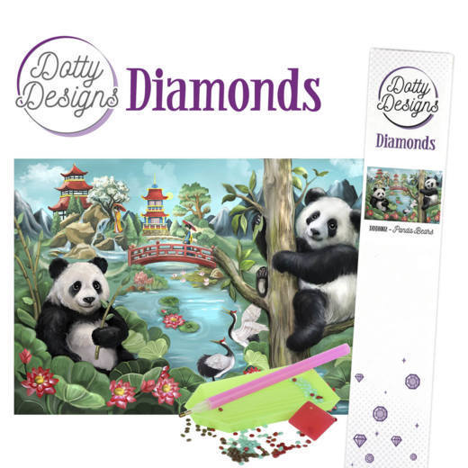 Dotty Designs Diamonds - Panda Bears