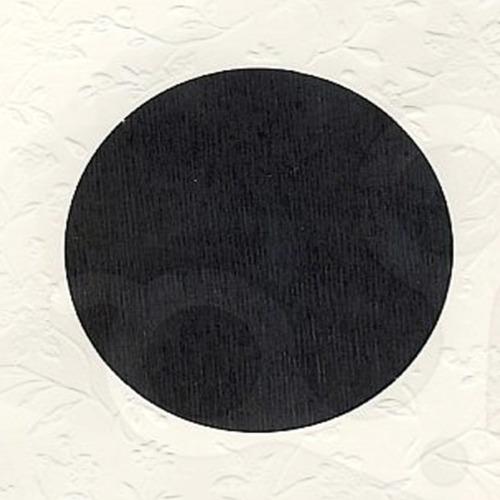 6 st vierkante kaarten rond pptout creme 7