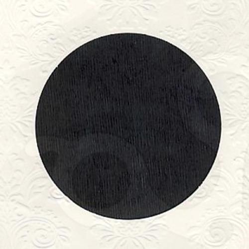 6 st vierkante kaarten rond pptout creme 8
