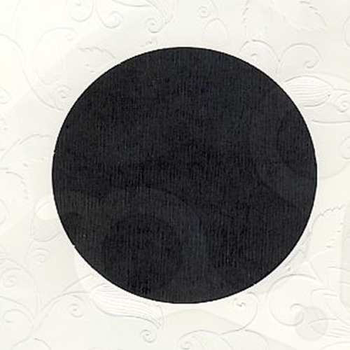 6 st vierkante kaarten rond pptout wit 2