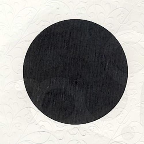 6 st vierkante kaarten rond pptout wit 3