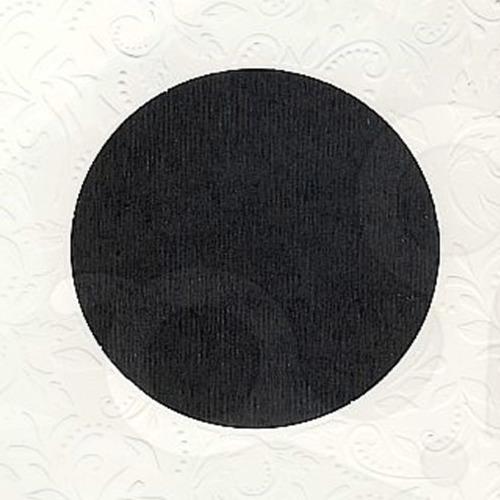 6 st vierkante kaarten rond pptout wit 5