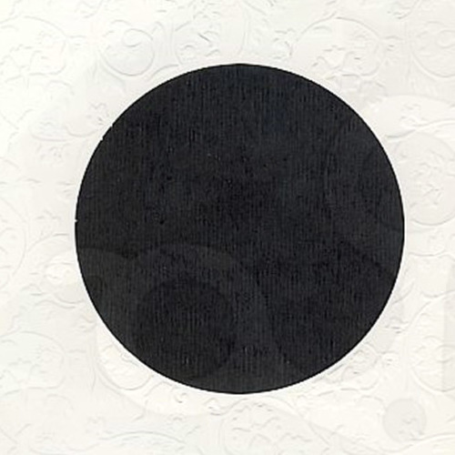 6 st vierkante kaarten rond pptout wit 6