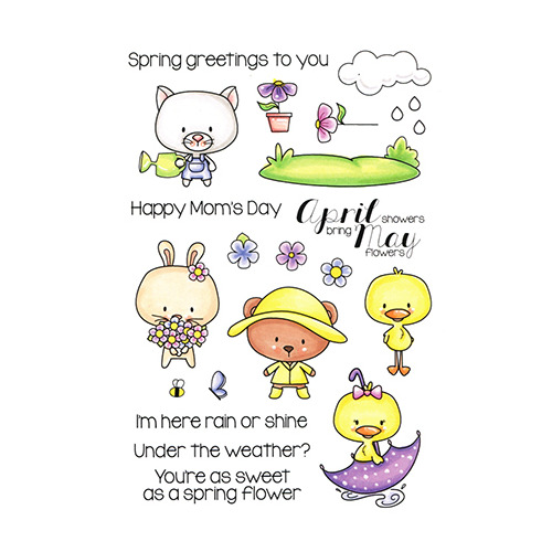 April & May Clear Stamp
