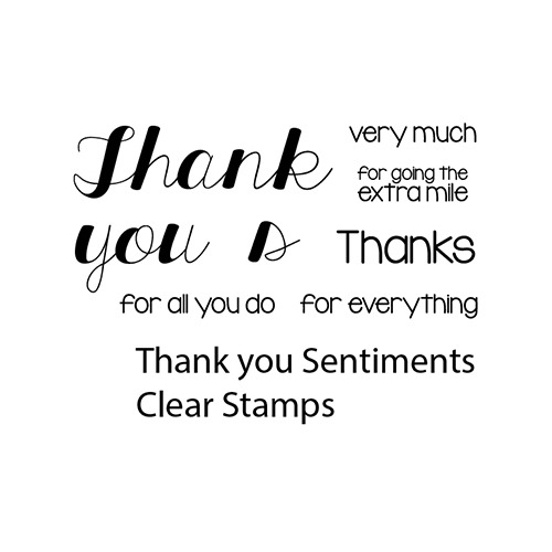 Thank you Sentiments Clear Stamp