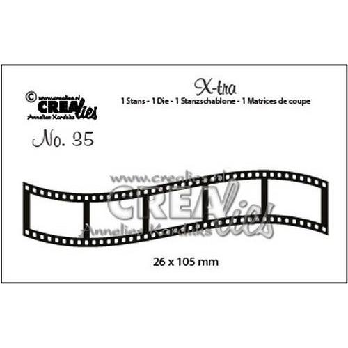 Crealies X-tra no. 35 Gebogen filmstrip klein CLX-tra35 26x105mm (10-19)